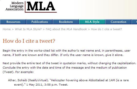 MLA Twitter Guidelines